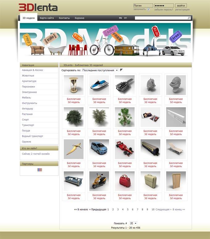 веб сайт для моделей
